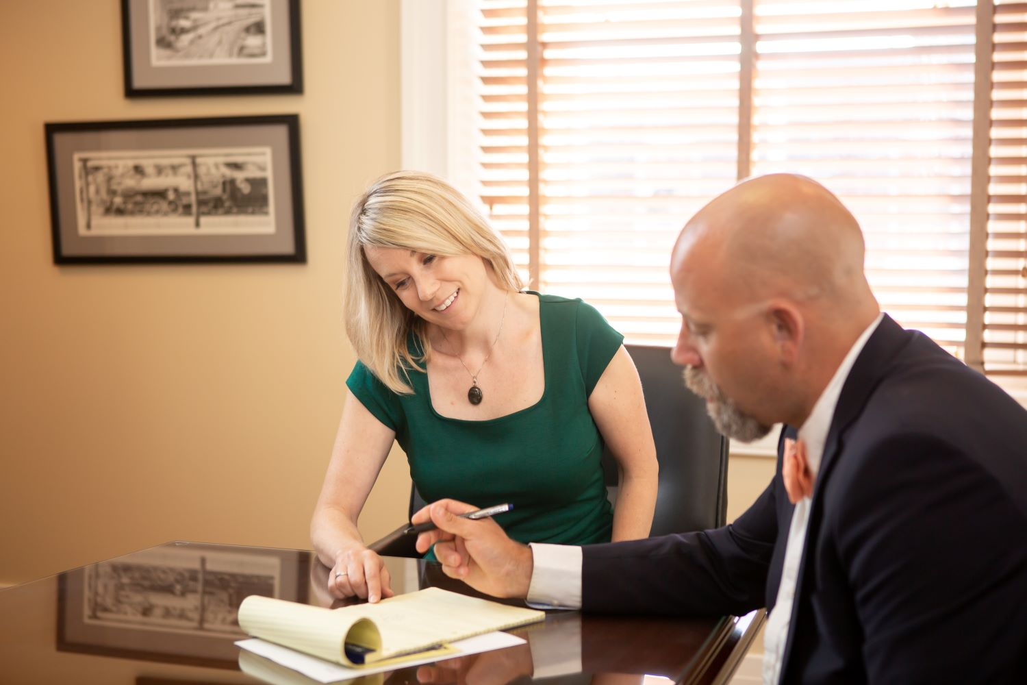attorney meeting with client