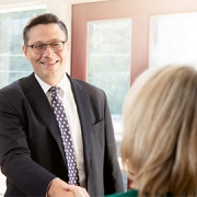 estate planning attorney meeting with client